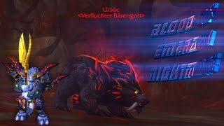 "WoW Legion Beta Raid ""Ursoc"" LFR Wing 2 ""Emerald Nightmare"" Blood DK LvL 110 Tank PoV (UHD)"