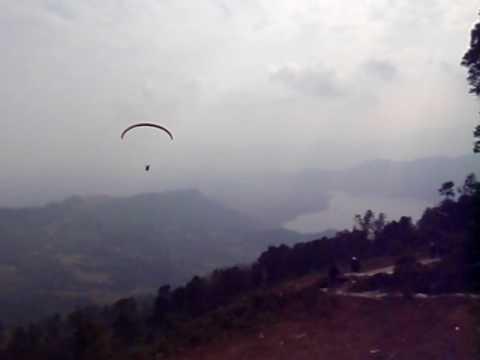 Rasyid's Paragliding Takeoff