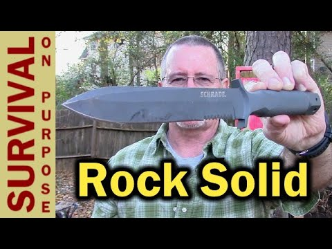 Shrade SCHF1 1-Piece Hollow Handle Knife Revisited -  Rambo Survival Knife Project