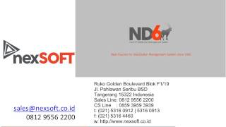 Program DISTRIBUSI ND95/ND6 - NexSoft 0812 9556 2200 – 2222-0134/37