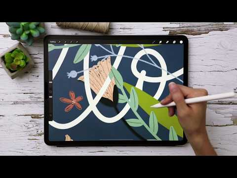 How to Intertwine Elements in Procreate