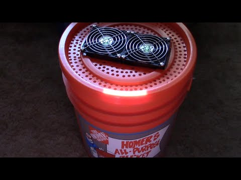 "DIY Fridge! The ""5 Gallon Bucket"" Refrigerator! - Peltier Cooled! - from 81F to 47F in just minutes!"