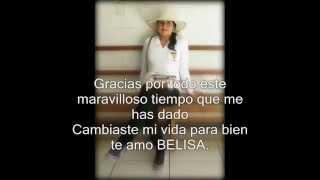 Belisa te amo por todo
