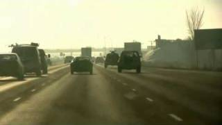 Royalty Free stock Footage - Traffic Cars and Trucks Driving on the Highway