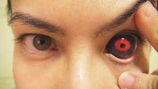 How to: Insert And Remove Tokyo Ghoul Sclera Contact Lenses (Fxeyes) width=
