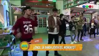 "CNCO canta ""Tan Fácil"" en vivo   Morfi Telefe Argentina"
