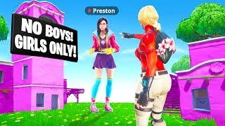 I Hacked My Wife's Account to SNEAK into GIRLS ONLY Fortnite Server...