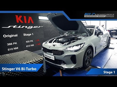 KIA Stinger 3.3 V6 Bi-Turbo Stage 1 Remap By BR-Performance