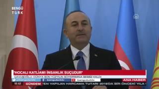"""BENGÜTÜRKTV- Bakan Çavuşoğlu: """"Hocalı katliamı bir gerçektir"""""""