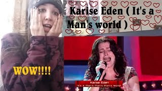 The Voice of Australia - Karise Eden ( It's a Man's world ) _ REACTION
