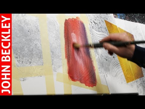 Abstract Painting demonstration in Acrylics with masking tape | Sinatra