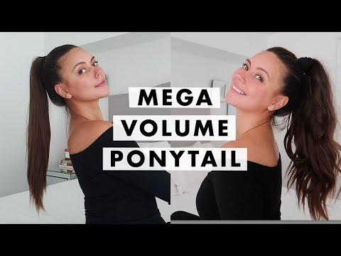 How to Get a Voluminous Ponytail + Ponytail Styling Hacks