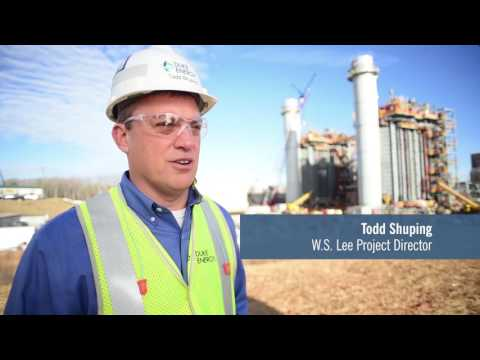 W.S. Lee combined-cycle natural gas plant construction project (social  media clip)