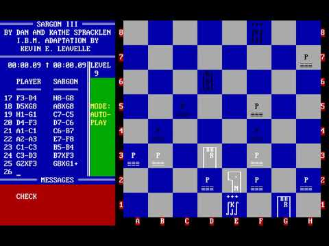 Sargon III (Dan & Kathe Spracklen, Kevin E. Leavelle) (MS-DOS) [1984]