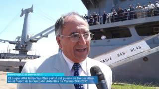 Partió el buque ARA Bahía San Blas en el marco de la Campaña Antártica 2016-2017