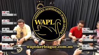 WAPL Live Table Soft Launch - Buck's magic run of cards continues!