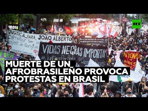 Brutal muerte de un afrobrasileño provoca masivas protestas en Brasil