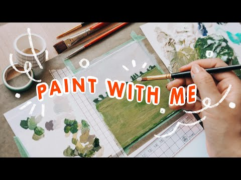🌱   30 Minutes of Painting [No Music]  ☁️