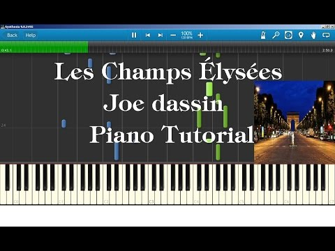 How To Play Les Champs Elysees On Piano Synthesia Chords Chordify