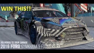 Winning Unlocking the 2016 GYMKHANA 9 FOCUS RS RX in Blizzard Mountain Forza Horizon 3