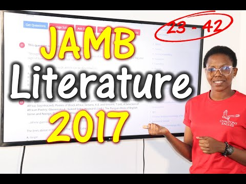 JAMB CBT Literature in English 2017 Past Questions 23 - 42