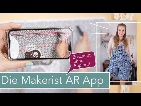 Ich teste die Makerist AR App! Zuschneiden ohne Papier!!!