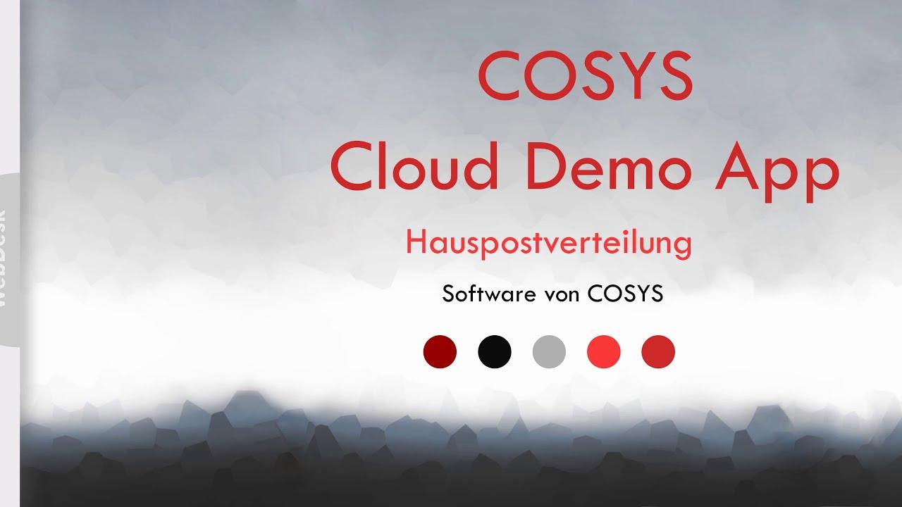 Sendungsverfolgung in der Inhouse logistik | COSYS WebDesk Hauspost