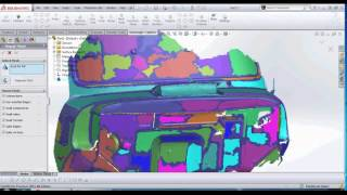 Artec Eva with Geomagic Capture plugin Solidworks 3d scanning