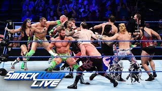 12-Man Tag Team Match: SmackDown Live, Aug. 16, 2016
