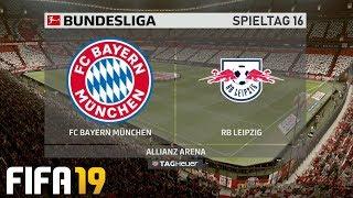 ⚽ FIFA 19 Bundesliga FC Bayern München : RB Leipzig 🏆 Gameplay Deutsch Livestream