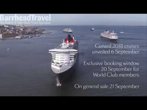 Cunard Cruise Deals 2018 with Barrhead Travel