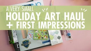 XMAS ART HAUL// Swatching and First Impressions// Background Noise