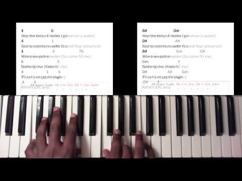 Water Anthony Brown And Group Therapy Piano Tutorial Chords