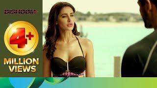 Varun and John are stunned after seeing Nargis Fakhri in bikini | Dishoom | Movie Scene width=