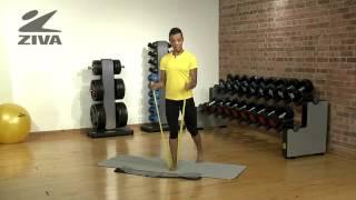 ZIVA Pilates Band - Mini Workout (yellow band)