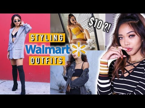 TRYING TO STYLE AND SLAY WALMART CLOTHES?! Try-on Haul & Lookbook | Fashion | Nava Rose