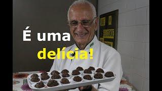 BRIGADEIRO FIT DE CHOCOLATE COM 3 INGREDIENTES (Sem leite condensado, sem manteiga)