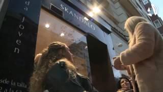 Maquillaje a ritmo de música para fomentar el comercio de la Zona Centro de Zaragoza