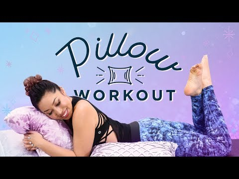 Pillow Workout for Lazy Days   At Home Ab & Butt Exercises