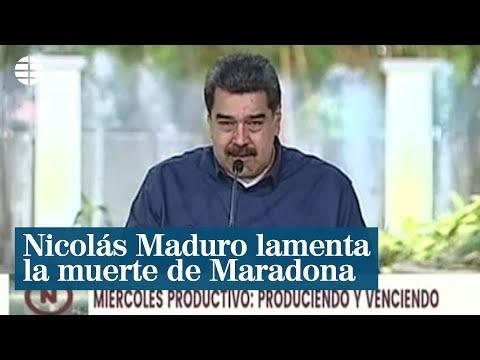 Nicolás Maduro lamenta la muerte de su amigo Maradona