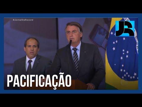 Bolsonaro faz aceno ao STF em nova tentativa de amenizar tensões entre os poderes