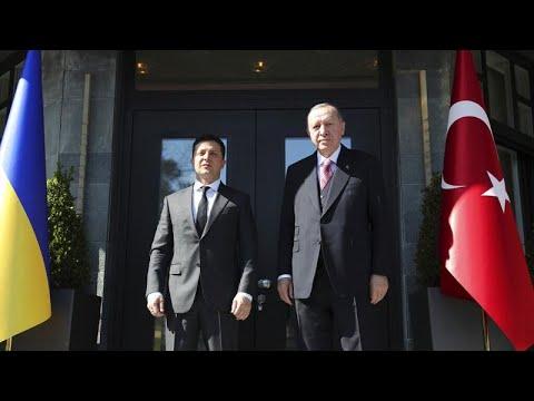 Erdoğan promete apoio à Ucrânia