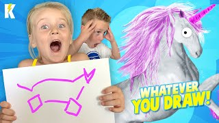 WHATEVER YOU DRAW, I'LL BUY IT CHALLENGE!!! (KIDS EDITION) KIDCITY