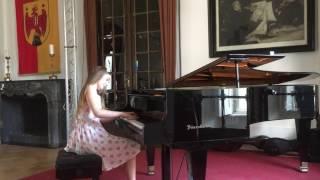 Alma practising cadenza for her new piano concerto