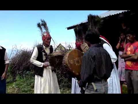 Jhankri dance from Manichud area sakwo,Kathmandu,Nepal.AVI
