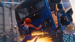 Spider-Man PS4 - Car Chase & Stop Moving Truck | Open World Side Mission