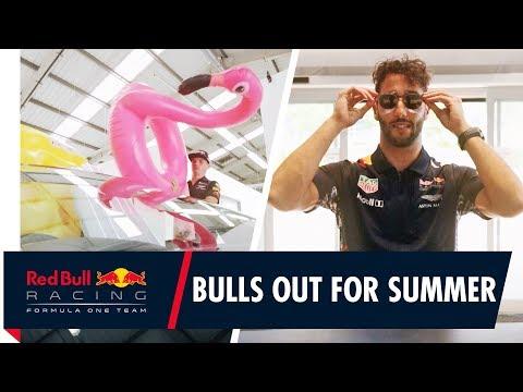 Daniel Ricciardo and Max Verstappen hit the road for the F1 summer break!