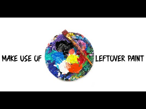 make use of leftover paint