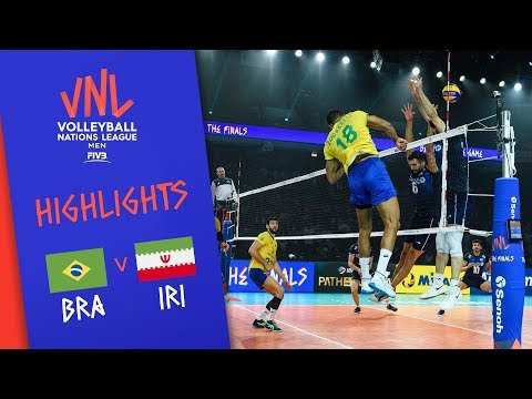 BRAZIL vs. IRAN - Highlights Men | Final Round | Volleyball Nations League 2019