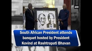 South African President attends banquet hosted by President Kovind at Rashtrapati Bhavan